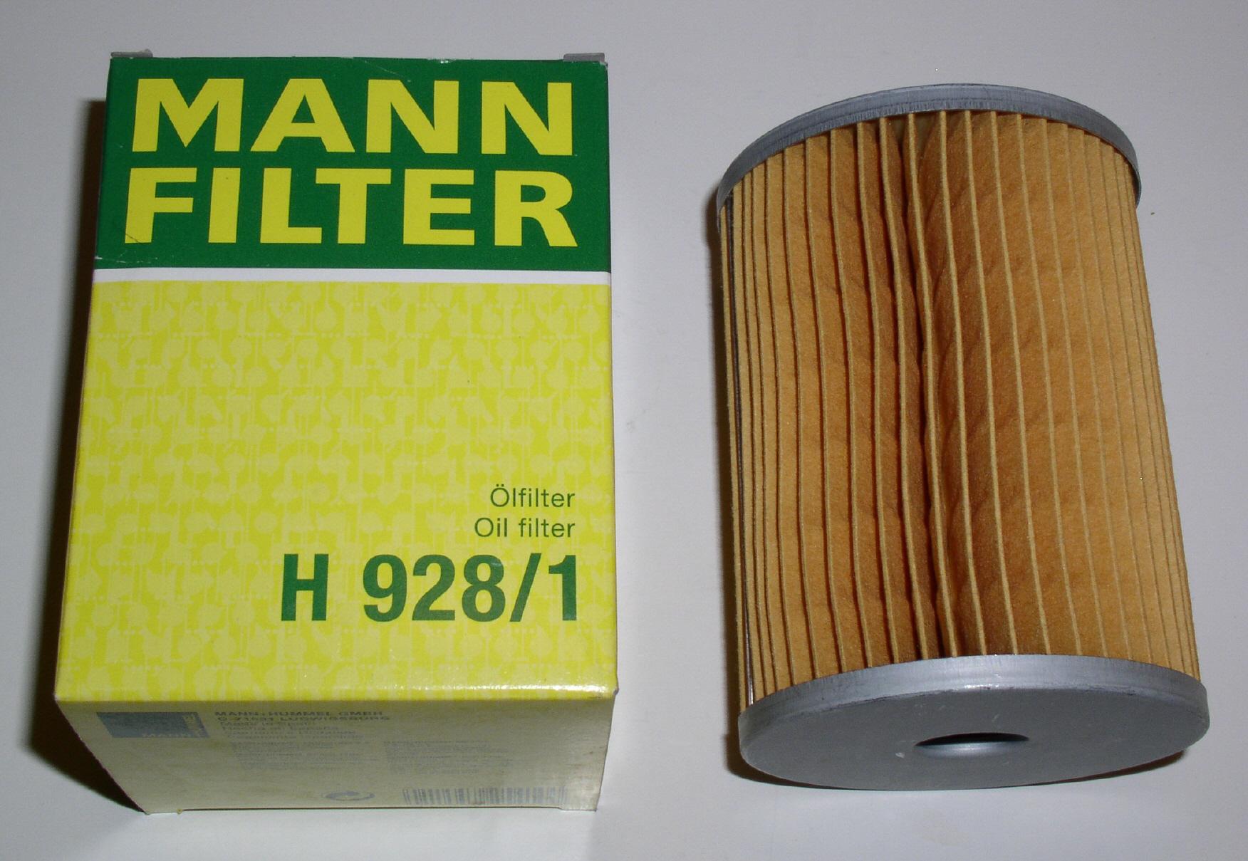 MANN-FILTER ÖLFILTER H928//1